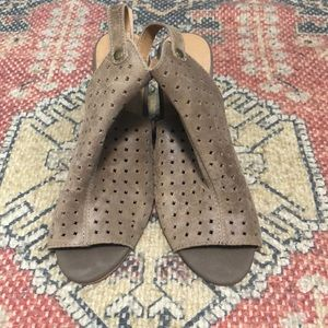 Lucky Brand Risza Perforated Wedge Sandals